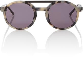 Dr Woo Round-Frame Acetate Sunglasses