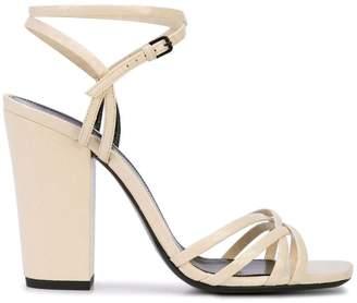 Saint Laurent crisscross strap sandals