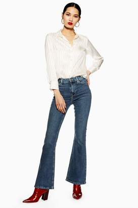 Topshop Mid Stone Flared Jamie Jeans