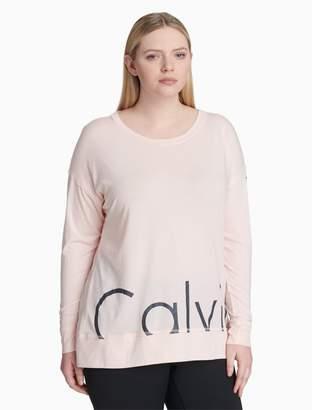 Calvin Klein plus size performance logo oversized tee