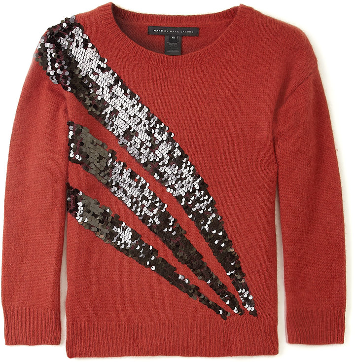 Marc by Marc Jacobs Faded Brick Quad Sequin Sweater