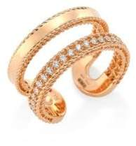 Roberto Coin Double Symphony Diamond and 18K Rose Gold Ring