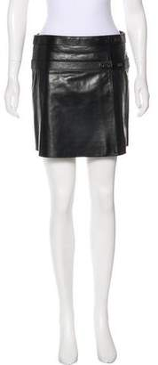 Belstaff Leather Mini Skirt