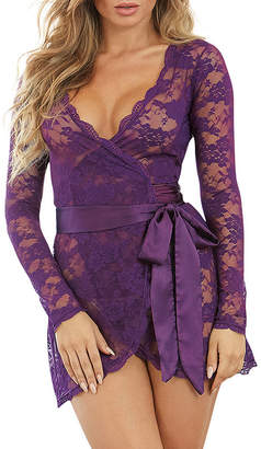 Dreamgirl Lace Wrap Sleeve Chemise