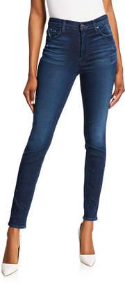 Hudson Barbara Stud Super Skinny Jeans