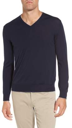 Eleventy Merino Wool & Silk Tipped Sweater