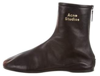 Acne Studios 2018 Logo Leather Ankle Boots