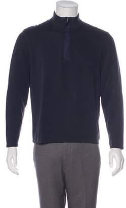 HUGO BOSS Boss by Nylon-Trimmed Half-Zip Sweater Boss by Nylon-Trimmed Half-Zip Sweater