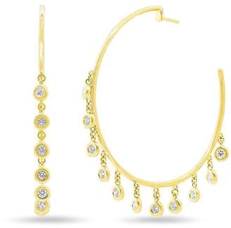 Anne Sisteron Diamond Droplets Hoop Earrings