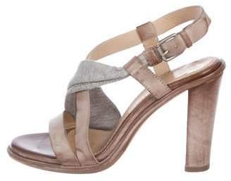 Brunello Cucinelli Leather Strap Sandals