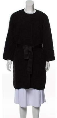 Dolce & Gabbana Wool-Blend Collarless Coat Black Wool-Blend Collarless Coat