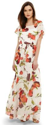 Phase Eight Cream Candelia Print Maxi Dress