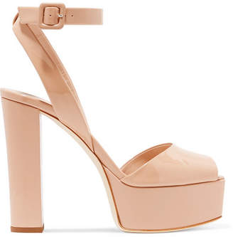 Giuseppe Zanotti Betty Patent-leather Platform Sandals