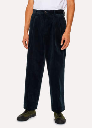 Paul Smith Men's Emerald Corduroy Red Ear Cropped Pants