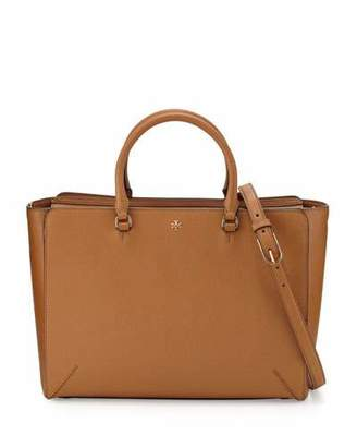 Tory Burch Robinson Large Zip-Top Tote Bag, Tiger's Eye $595 thestylecure.com