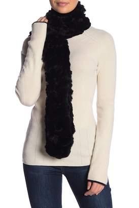 Surell Genuine Rex Rabbit Fur Scarf