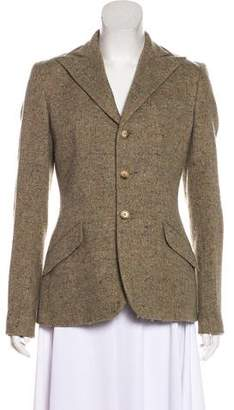 Ralph Lauren Notch-Lapel Wool Blazer