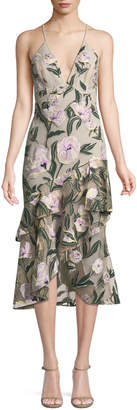 PatBo Patricia Bonaldi Floral Thread Work Midi Dress