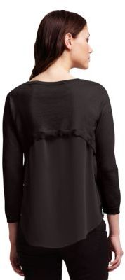 Kenneth Cole NEW YORK Reverse High-Low Cardigan