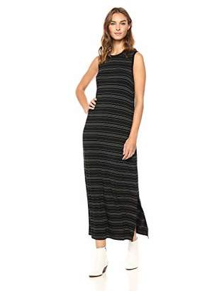 Daily Ritual Women's Jersey Crewneck Muscle Sleeve Maxi Dress with Side Slit