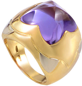 Bulgari Heritage  Piramide 18K Two-Tone Amethyst Ring