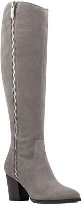 Nine West Block Heel Leather Tall Boots - Natty