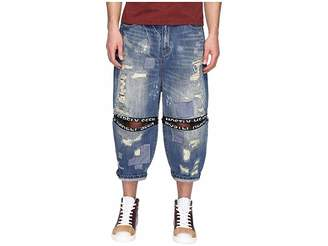 Mostly Heard Rarely Seen Destroyed Ticker Feed Jeans Men's Jeans