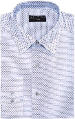 Alfani AlfaTech by Men's Classic/Regular Fit Diamond Print Dress Shirt, Created for Macy's