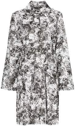 Paskal Reflective lunar print belted raincoat