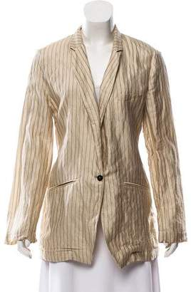 Giada Forte Striped Long Sleeve Blazer