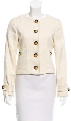 Burberry Wool-Blend Collarless Jacket