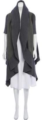 Stella McCartney Oversize Longline Wool Cardigan Grey Oversize Longline Wool Cardigan