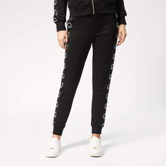 Karl Lagerfeld Paris Women's Sweatpants with Circle Logo Tape