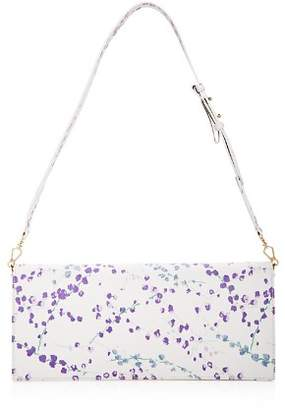Max Mara Ted Floral Print Leather Shoulder Bag