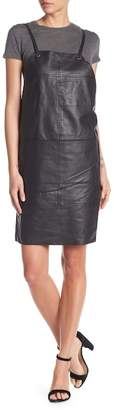 Kenneth Cole New York Leather Apron Dress