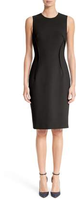 Versace Stretch Cady Sheath Dress