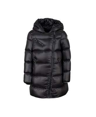 Moncler Enfant Gelinotte Long Hooded Jacket Colour: BLACK, Size: Age 1