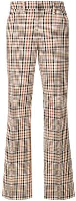 No.21 plaid flared trousers
