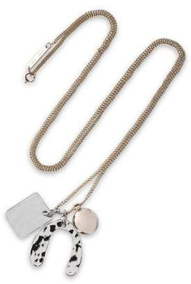 Proenza Schouler Hammered Gold And Silver-Tone Necklace