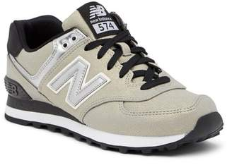 New Balance 574 Seasonal Shimmer Suede Sneaker - Wide Width Available