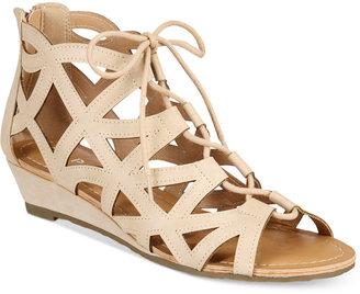 Esprit Cacey Lace-Up Wedge Sandals $49 thestylecure.com