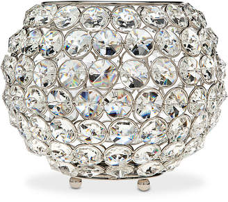 "Godinger Lighting by Design Glam 8"" Nickel-Plated Ball Crystal Tealight Holder"