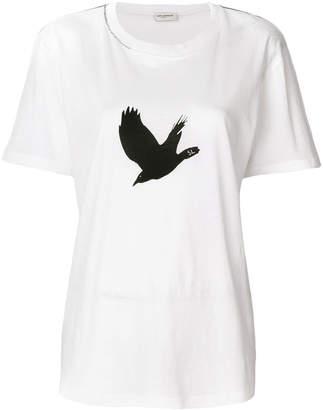 Saint Laurent bird print T-shirt
