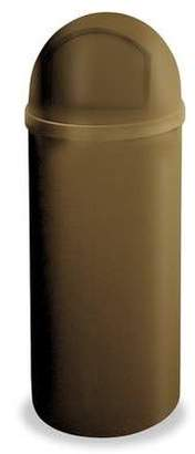 Rubbermaid Commercial Products Marshal Classic Trash Can, 25-Gallon, Brown FG817088BRN
