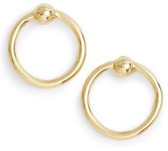 Argentovivo Stationed Open Ring Stud Earrings