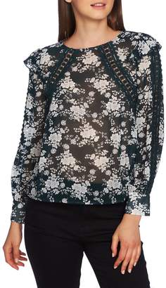 1 STATE 1.STATE Forest Lace & Chiffon Top