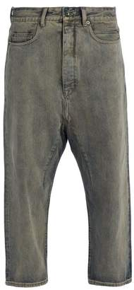 Rick Owens Drkshdw - Tapered Cropped Jeans - Mens - Black