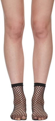 Wolford Black Fishnet Short Socks