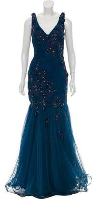 Jovani Pleat Embellished Evening Gown w/ Tags