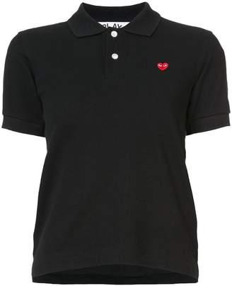 Comme des Garcons heart logo polo shirt